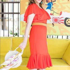 Lularoe Cici Dress Ruffle Mermaid Fitted NWT
